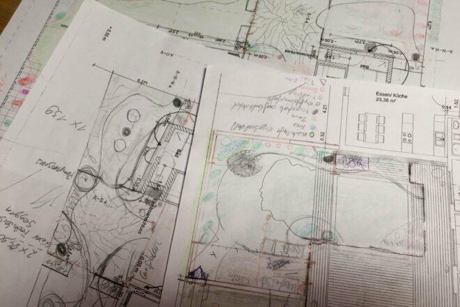 Familiengarten Planen Zeichnungen