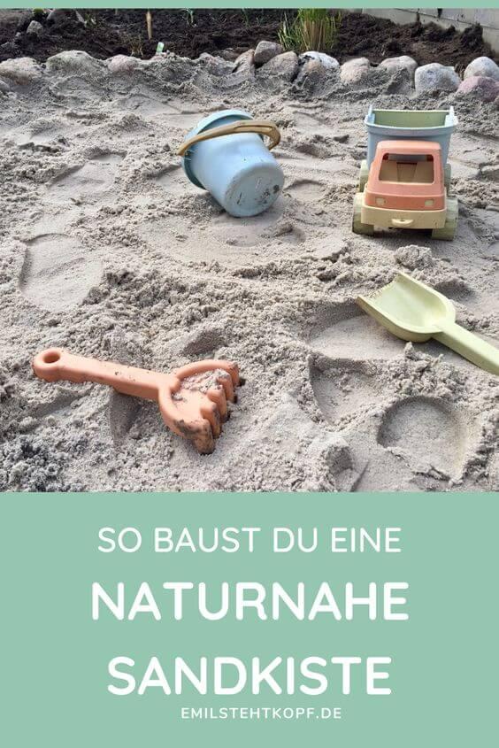 So baust du eine naturnahe Sandkiste
