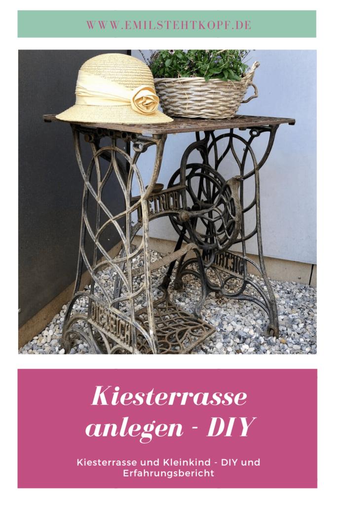 Terrasse aus Kies anlegen - DIY