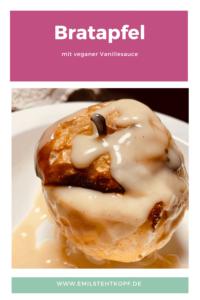 Bratapfel mit Vanillesauce (vegan)