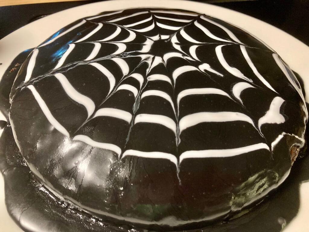 Spinnenkuchen zu Halloween