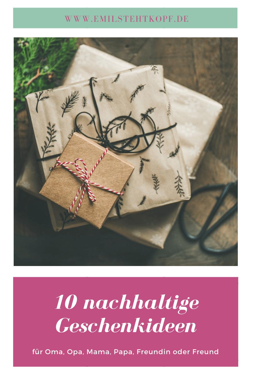 nachhaltige Geschenkideen, bleibend oder praktisch